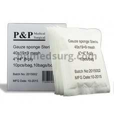 """Gauze Surgical Sponges Cotton STERILE Woven 8-ply High Grade Quality 4""""x4"""" Class I(a) All Purpose Pads Pack of 100"""