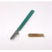 Disposable Scalpels Sterile Surgical Blade Size 15 Stainless Steel with Plastic Handle & Metric Line Individually Foil Wrapped Box of 100