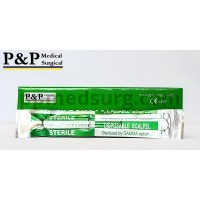 Disposable Scalpels Sterile Surgical Blade Size 21 Stainless Steel with Plastic Handle & Metric Line Individually Foil Wrapped Box of 50