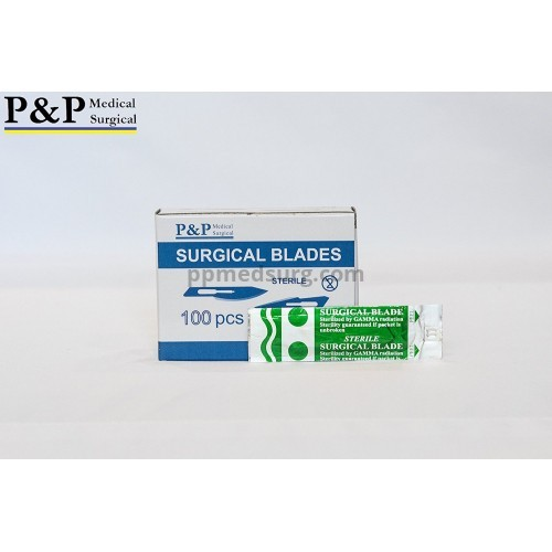Disposable Surgical Scalpel Blades Sterile High Grade Carbon Steel 2.1% 10xx Individually Foil Wrapped Size 15 Box of 300